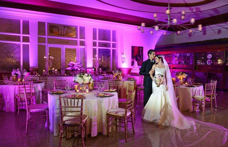 Couple Wedding Oval Room