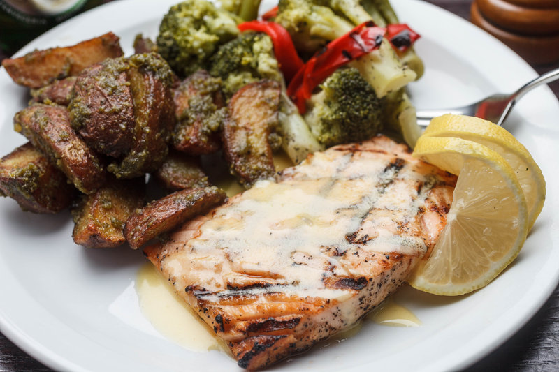 Grilled salmon served at the Holiday Inn New Orleans Westbank