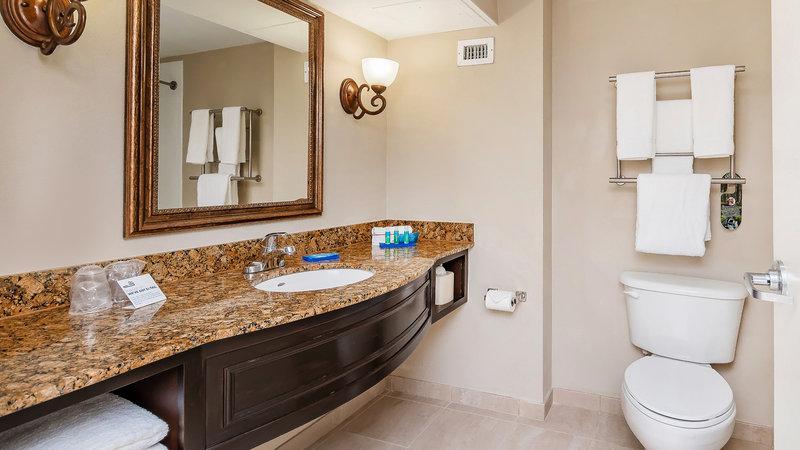 Guest Bathroom, featuring Bath & Body Works products. Hair dryer