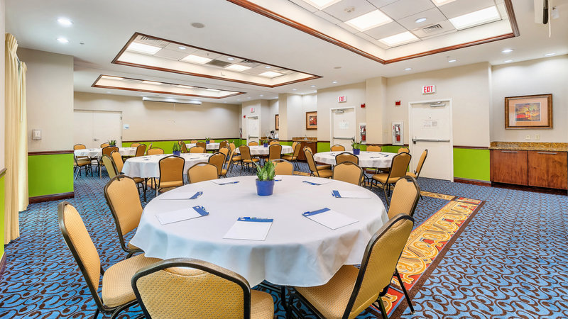 Meeting Room - Banquet Style.  Catering available