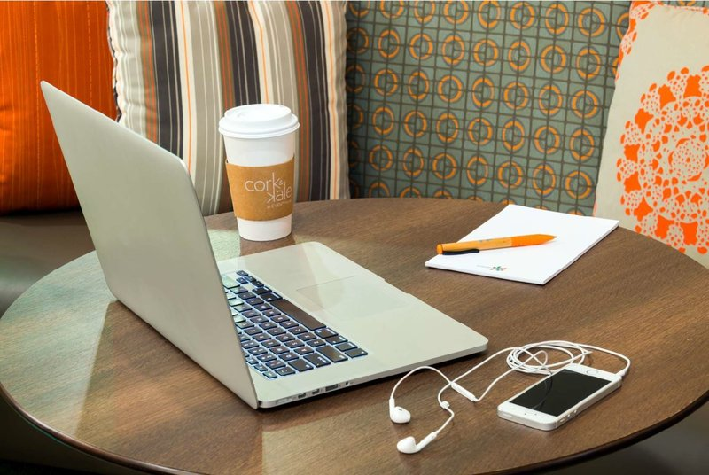 Designed work spaces with free Wi-Fi and multi-media ports