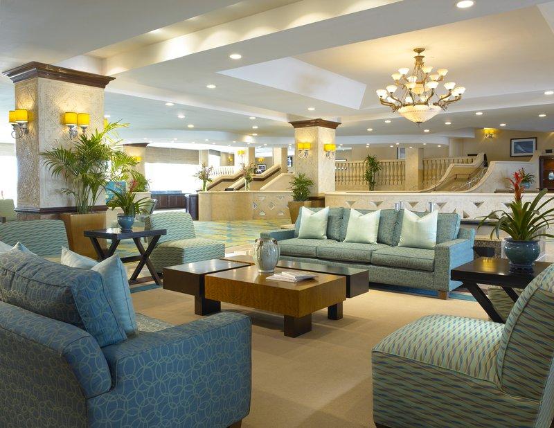 Holiday Inn Miami Beach Oceanfront lobby in morning