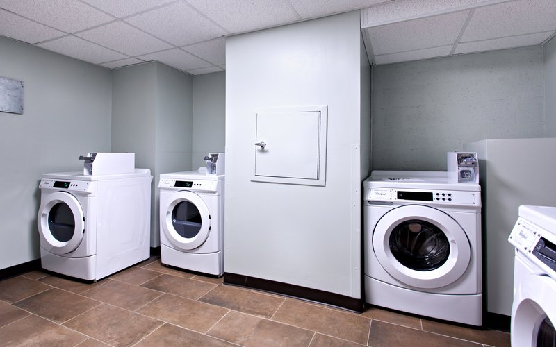 Need some clean clothes? Use our laundry facilities!