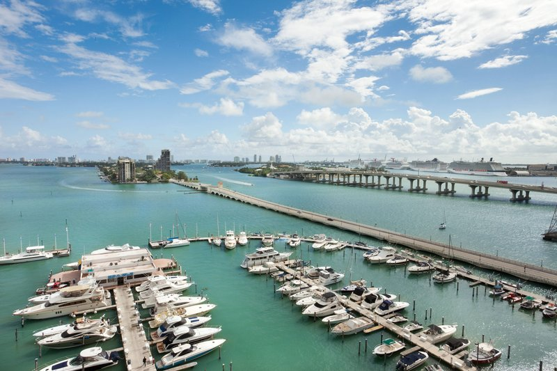 Bay & Port of Miami View Guest Room