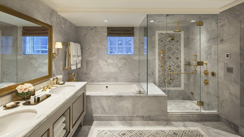 Penthouse Master Marble Bathroom with Jacuzzi