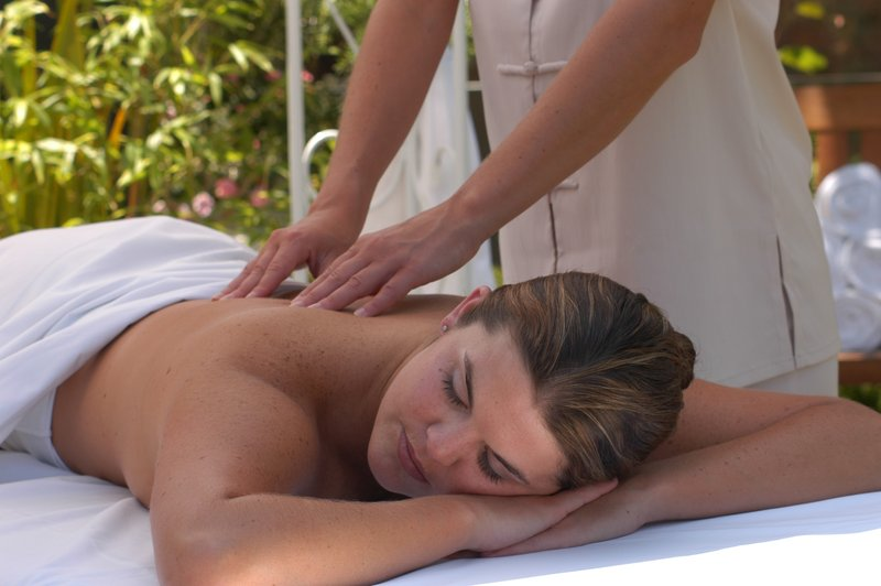 Outdoor spa treatment