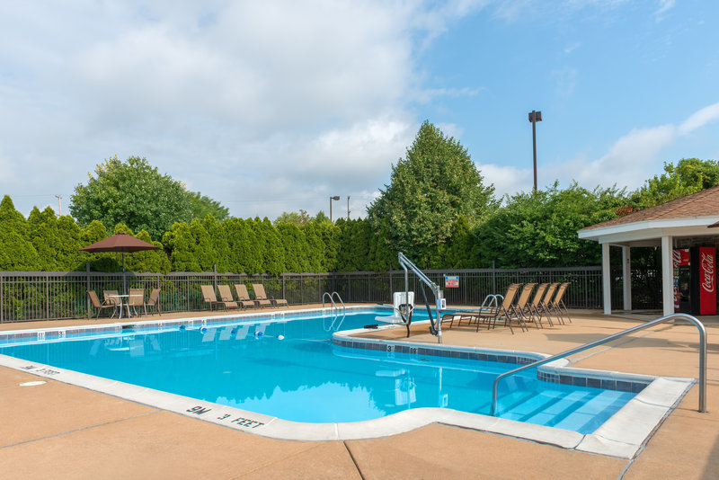 Enjoy a sunny day at our Seasonal Outdoor Pool!