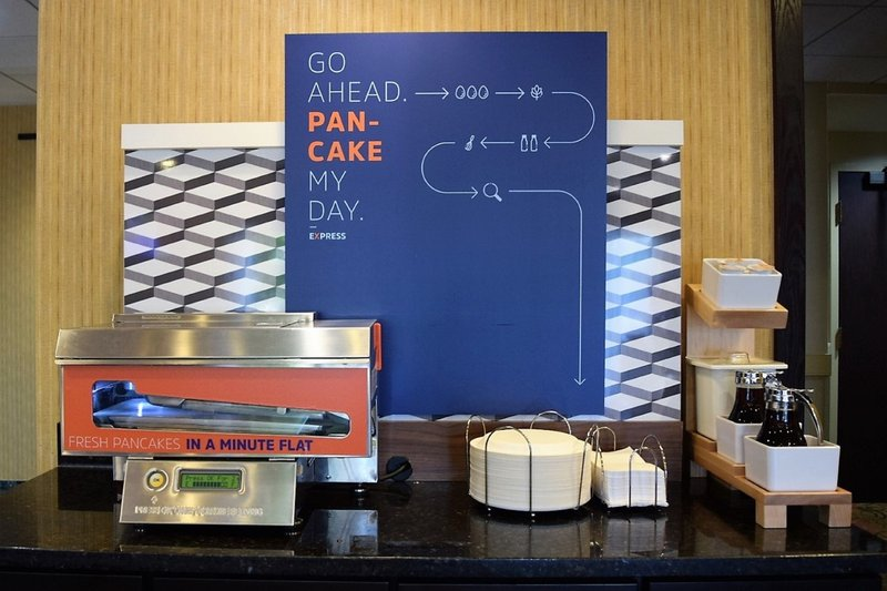 Try our self-serve Pancake Machine! Made fresh every time.