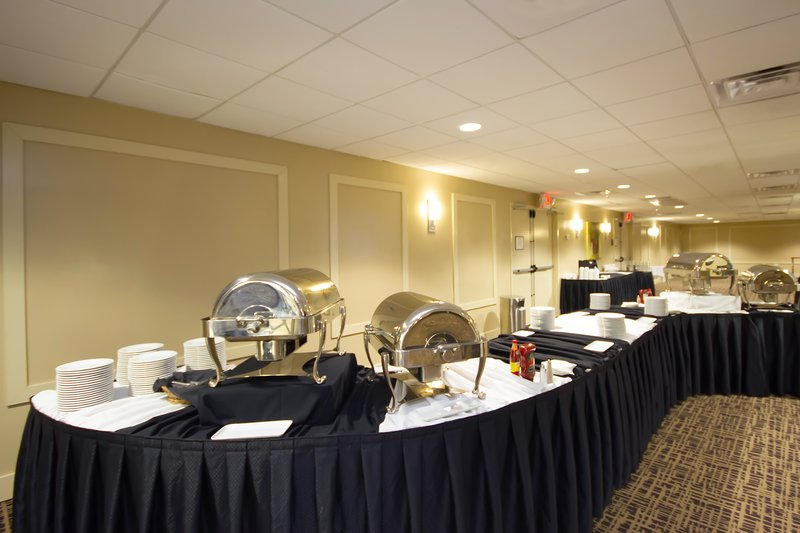Buffet set-up in the meeting room at Holiday Inn Metairie