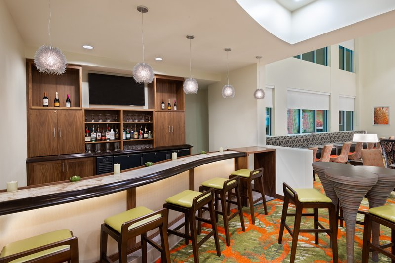 The onsite bar offers beer, wine and signature cocktails.