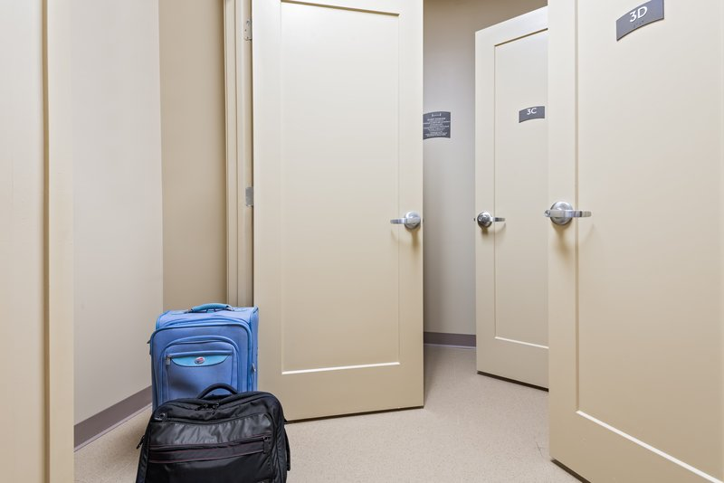 Ask us about our free storage rooms available on each floor.