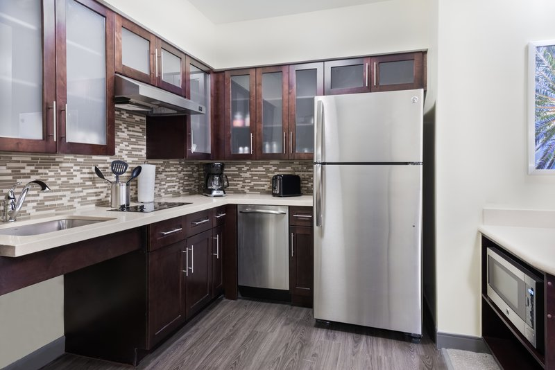 Our accessible kitchens offer lowered amenities and counters.