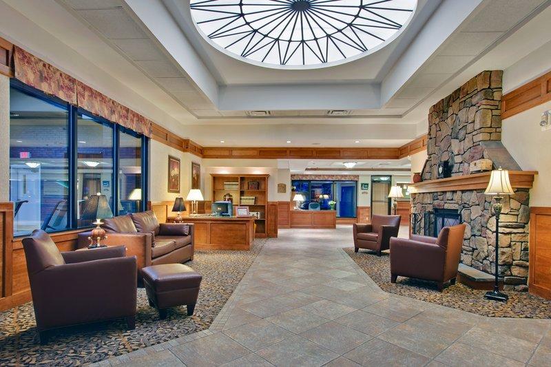Relax in the lobby at the Holiday Inn Burlington, VT.