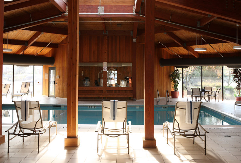 Relax at our indoor swimming pool just off the first floor lobby.
