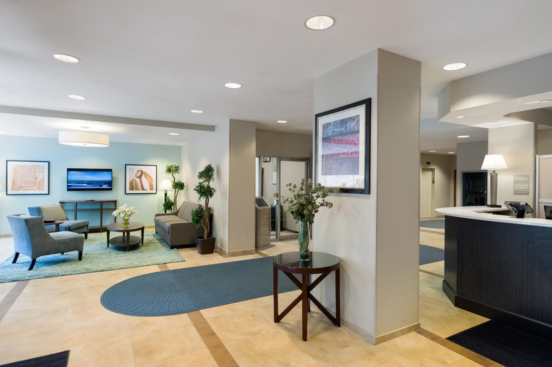 Cozy lobby and reception area, a perfect place to meet.
