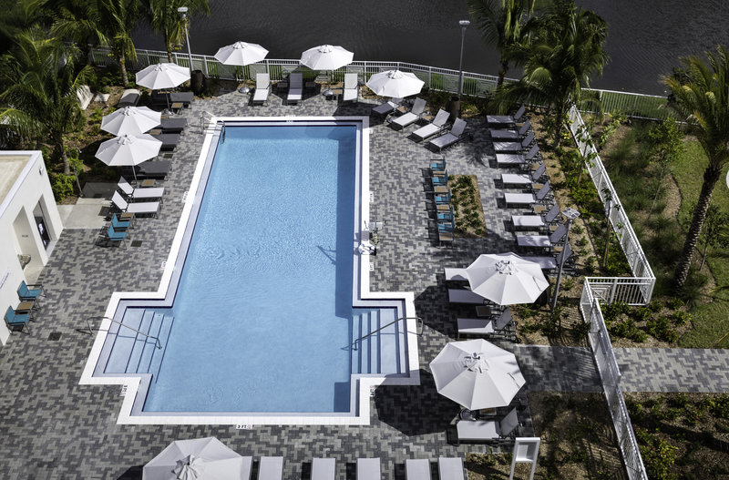 Plunge into our tropical pool at the end of the work day