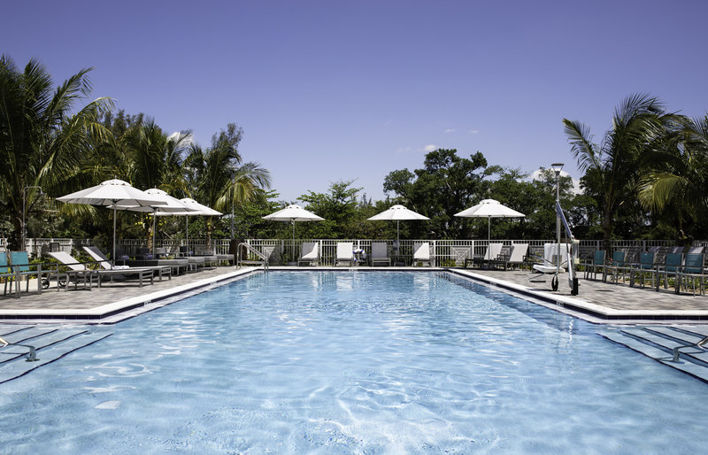 Expansive on site pool at our Miami Airport hotel