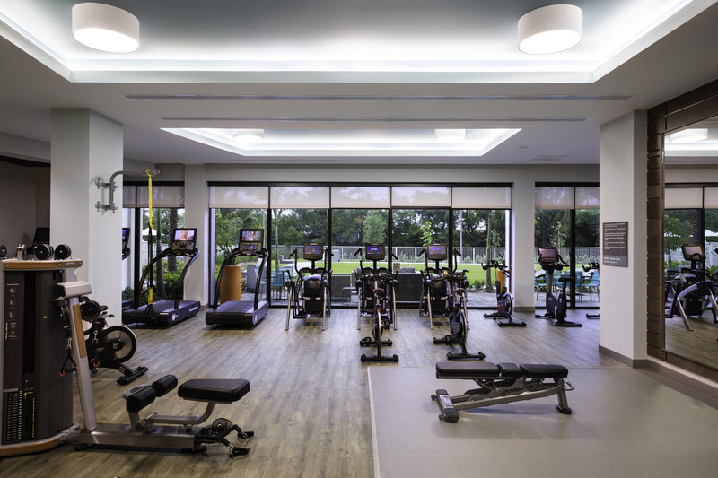 Enjoy the expansive fitness center at our Miami airport hotel