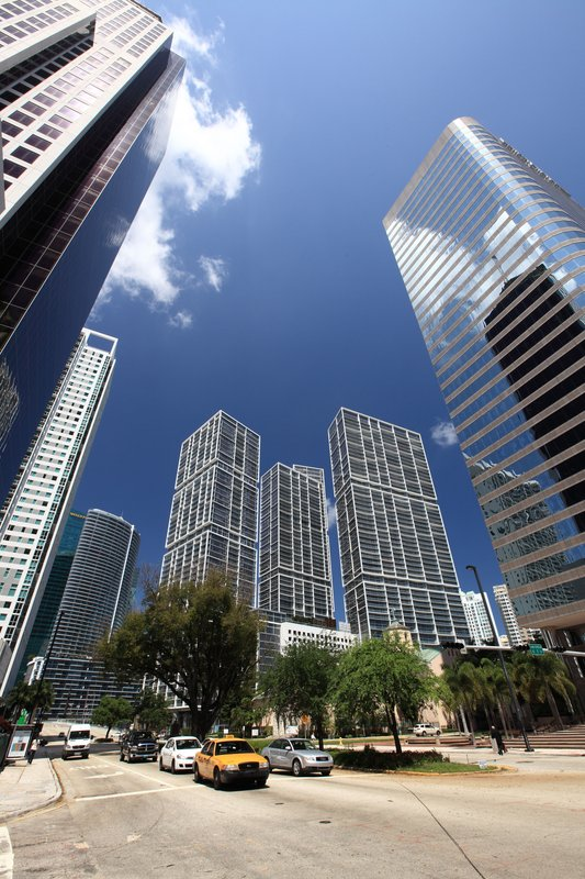 Within a short drive from Brickell financial district