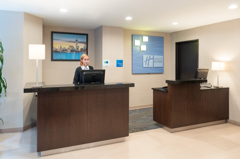 Front Desk of the Holiday Inn Express Wall Street.