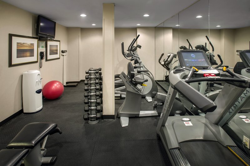 Stay fit while on the road in our 24-hour fitness center