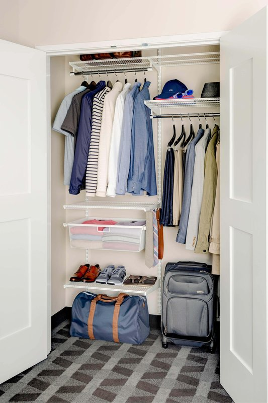Elfa closet from The Container Store