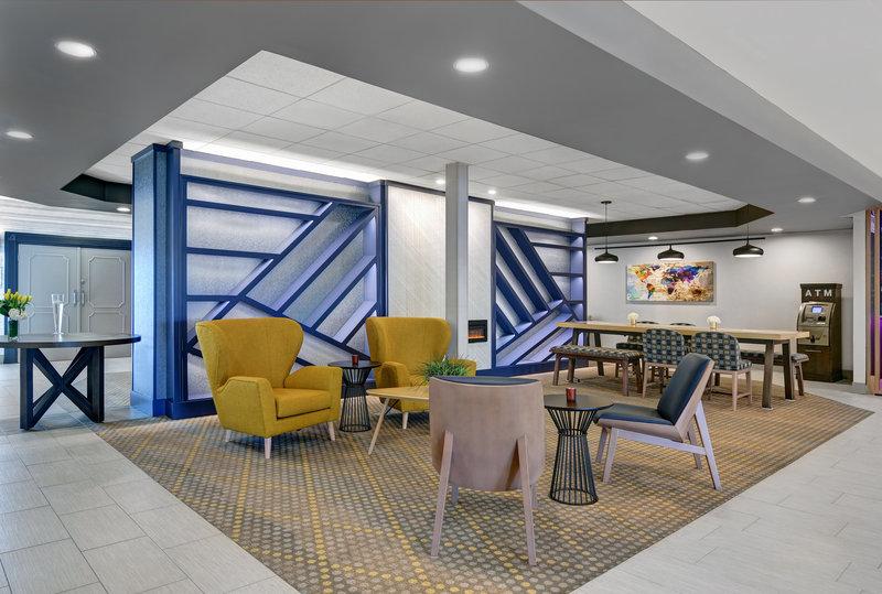 Hotel lobby lounge area