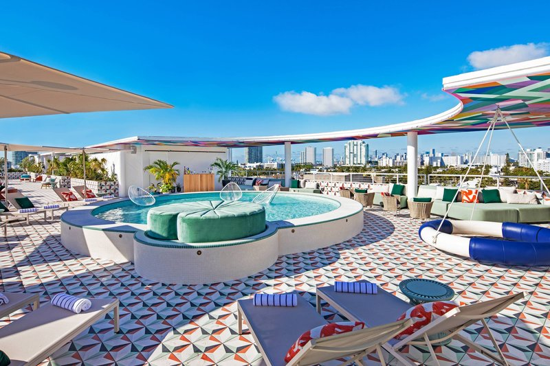 The Upside Rooftop Lounging Pool